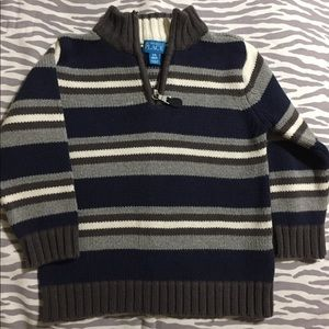 (Children's Place)Navy Blue & Grey Striped Sweater